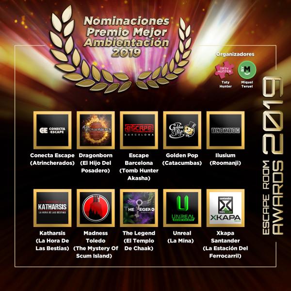 ¡Estamos nominados a varios premios de Escape Room!
